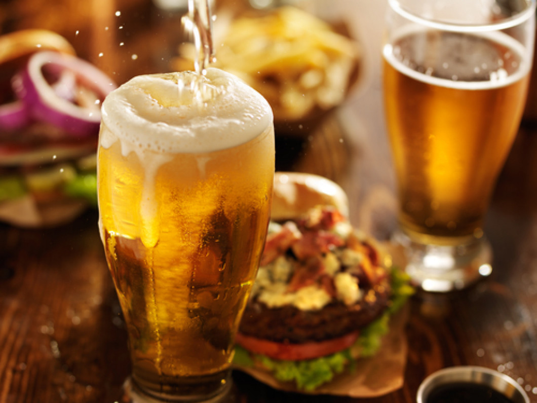 Burgers and Beer Make the Perfect Pair